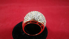 Melania Trump Gold Tone Domed Ring - Size 7     CZ Pave'      57