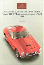 CMC LAUNCH LEAFLET - 1:18 SCALE - FERRARI 250 GT BERLINETTA - RARE