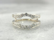 1.20 Ct Round Diamonds 14K White Gold Fn Solitaire Enhancer Wrap Engagement Ring