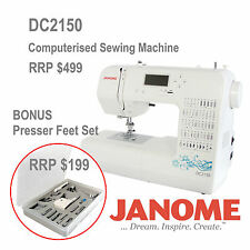 Janome DC2150 Sewing Machine updated from DC2050 + Presser Feet Set Walking Foot