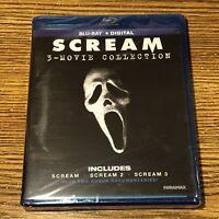 Scream 3-Movie Collection Blu-Ray Digital 1 2 3 Documentaries Horror Wes Craven