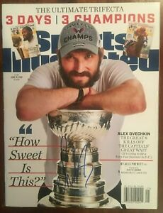Alexander Ovechkin Capitals signed 6/18/18 Sports Illustrated NL mag Beckett COA