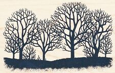Fall Trees  93174 INKADINKADO RUBBER STAMP ~ w/m Free Shipping NEW