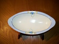 Antique, EVERETT STUDIOS HAND PAINTED OVAL DISH BOWL, 1900's MADE IN AUSTRIA