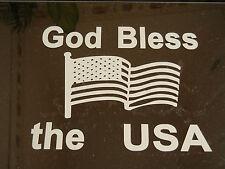 "Sticker for Car/Truck/Laptop "" God Bless The USA "" Vinyl Sticker"