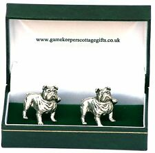 Bulldog British Cufflinks for dog lovers and churchill