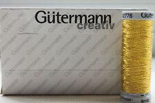 Gutermann Sulky Gold Metallic Thread 200 m Shade 7007 Hand & Machine Applique