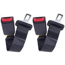 "2 X 36cm Universal 14"" Car Seat Seatbelt Safety Belt Extension 7/8"" Buckle AB"