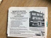 q1-r ephemera 1987 advert skegness hotel merton