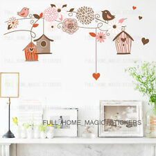 Flower Vine Bird Cage Wall Stickers Art Decal Home Decor Mural Paper Vinyl Lobby