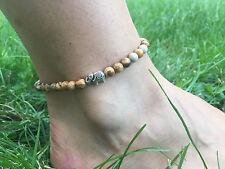 Fußkette Fußkettchen Fußschmuck Edelsteine handgefertigt Jaspis