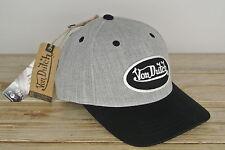 Von Dutch Truckercap grau mit schwarzen Patch Cap NEU Basecap Snapback van Dutch