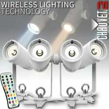 EZpin Pack LED Wireless Spot Lighting System + Case & Remote Shop Office Theatre