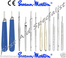 Genuine Swann Morton Surgical Scalpel Blade Handles No.3 & 4 Fitment Full Range