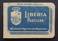 Carnet publicitaire bloc-notes Pastilles LIBERIA Républic gorge poumon