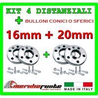 KIT 4 DISTANZIALI PER OPEL COMBO D VAN CDTI DAL 2011 PROMEX ITALY 16mm + 20mm S