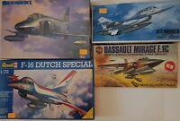 RF-4;F-16;F.1C;F-16B;HASEGAWA,REVELL,AIRFIX,FUJIMI SCALA 1:72
