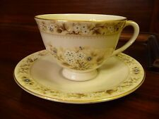 Royal Doulton Mandalay TC1079 Tea Cup and Saucer Set Vintage Footed Excellent