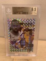 2019-20 PANINI MOSAIC LEBRON JAMES STARE MASTERS LAKERS BGS 9.5 = PSA 10 POP 8!