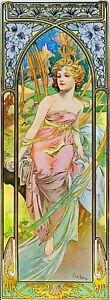 1899 Morning Awakening Vintage French Nouveau France Poster Print