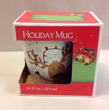 Christmas Reindeer Rudolph Xmas Coffee Cocoa Mug Holiday Gift New