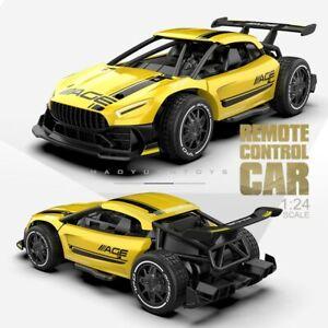 Radio Control 2.4G 4CH Race Car Toys 1:24 High Speed Electric Mini RC Super Cars