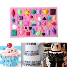 3D Silicon Diamond Gem Jewel Mould Mold Cake Fondant Sugars Soap Silicone craft