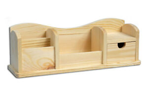 DALIN Portapenne in legno a forma di casa