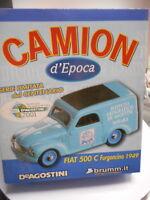 BRUMM 1/43 - FIAT 500C FURGONCINO 1949 DE AGOSTINI