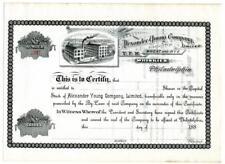 Alexander Young Stock 1880s Y.P.M. Wheat Rye Whiskey Distillery Philadelphia PA