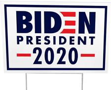 Joe Biden for 2020 President Democratic Yard Sign, Navy, Red