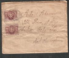 Poland 1923? cover Ziemia Dobreniska/Warszawa to A Adamowicz Dickson City Pa