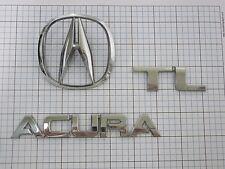 Acura TL 2004 trunk emblem logo oem full set 75701-SEP-A00