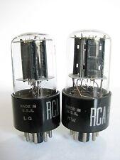 2 matched 1958-60 RCA 6SN7GTB tubes - TV7B tests @ 109/100, 116/108, min:50/50