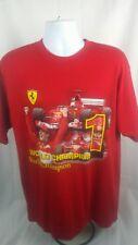 Ferrari Mens Shirt Size L Large Red Racing