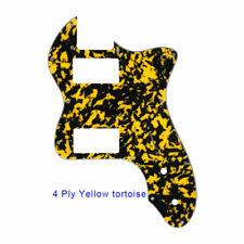 Classic telecaster 72 thinline Guitar Pickguard PAF Humbucker Yellow tortoise