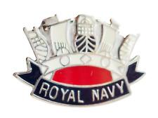 Royal Navy RN Crown Pin Badge - MOD Approved
