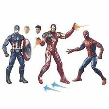 Hasbro Civil War Marvel Legends 3pack Iron Man Captain America Spiderman F/s