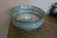 "Antique Islamic Copper Bowl Pot Tub Basin Hallmarked 11.5"" x 5"" H Turkish Bath"