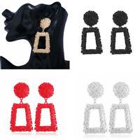 Fashion Women Punk Geometric Dangle Drop Big Metal Earrings Statement Jewelry