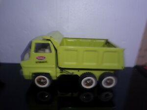 Vintage 70's TONKA  Pressed Steel Lime Green Hydraulic Dump Truck