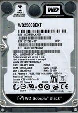 Western Digital WD2500BEKT-66F3T2 250GB DCM: HHCTJABB