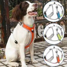Medium Extra Large No Pull Dog Pet Harness Reflcetive Nylon Soft Mesh Vest &Tag