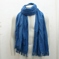 NEW Closed Blue Scarf with Spot Embroidery GENUINE RRP: £55 BNWT