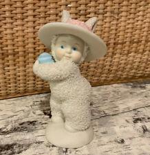 Snowbabies Snowbunnies Dept 56 Figurine Blue Easter Egg Rabbit Bunny