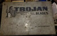 Vintage Trojan Metal Saw Blade Display Storage Box