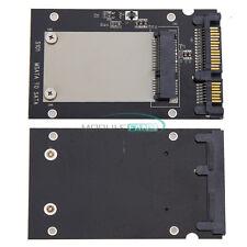 """Mini Pcie PCI-E SSD mSATA to 2.5"""" SATA3 Convertor mSATA-SATA Adapter Card Black"""