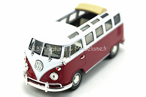 VW VOLKSWAGEN MICROBUS T1 SAMBA TOIT OUVERT 1962 1/43 LUCKY DIE CAST