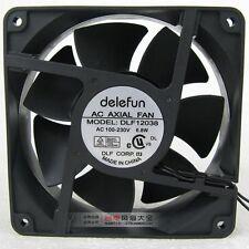 Delefun DLF12038 Cabinet Cooling Fan AC 100V-230V 6.8W 2-Wire