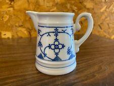 "Winterling Bavaria 3 1/2"" Miniature Milk Pitcher Strawflower Blue White Germany"